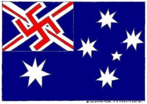 Nazi Australian Flag